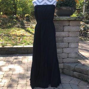 Gap strapless clip dot eyelet trim dress